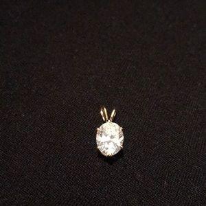 Rhinestone slide pendant